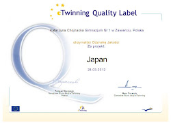 eTwining Quality Label for G1 in Zawiercie
