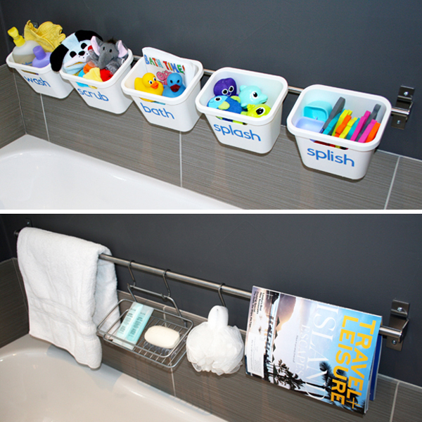 Bath tub toy organization