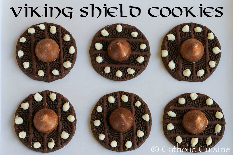 Catholic Cuisine Viking Shield Cookies For The Feast Of St Magnus