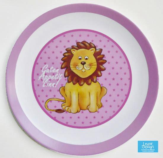 Kindergeschirr aus Melamin - Motiv Löwe