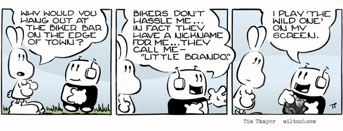 Why would you hang out at the biker bar on the edge of town?