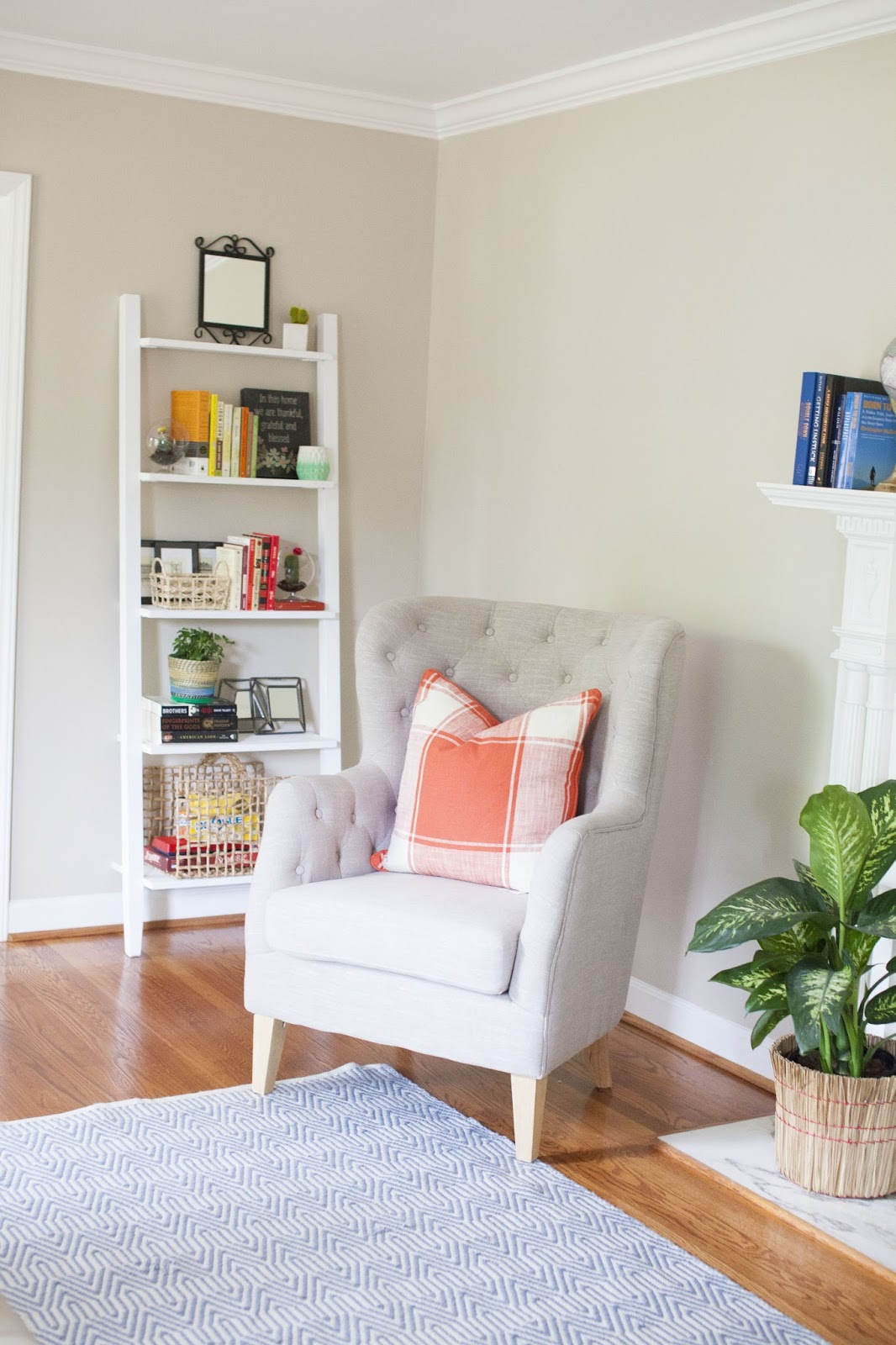 styling a modern traditional living room - Design Post Interiors