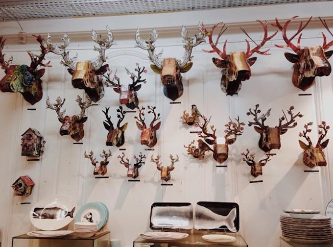 cabezas ciervo decoración