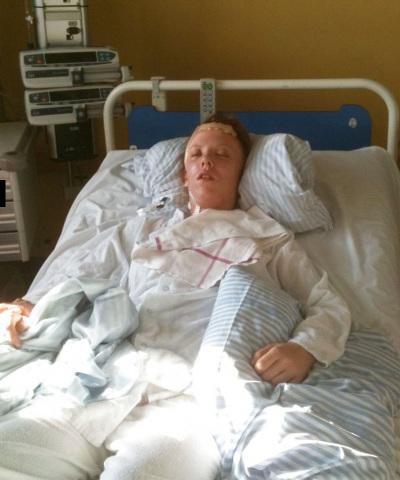 Carina Melchior på hospitalet