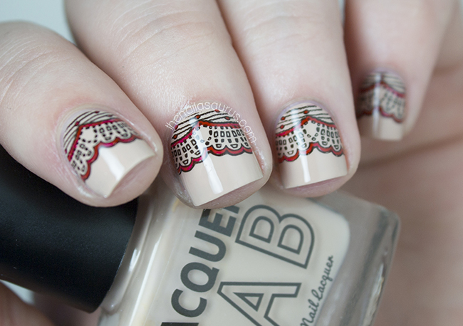The Nailasaurus | The Lacquer Legion Glam | Lace Stamping Nail Art