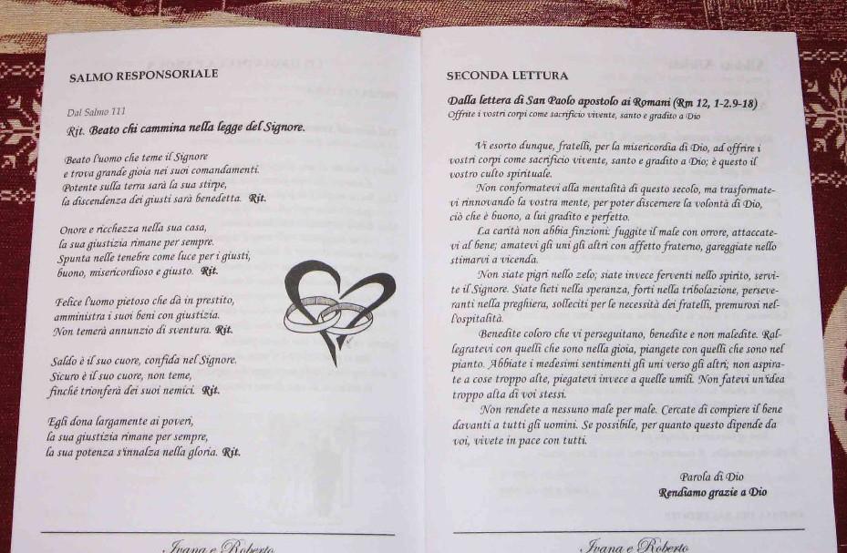 Estremamente Guida al matrimonio: Il libretto messa WS99