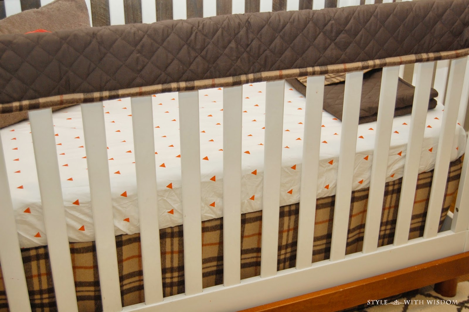Woodland Nursery crib bedding teething bumper