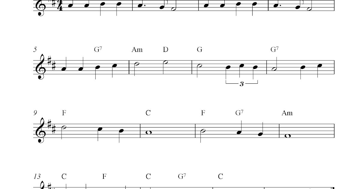 We Shall Overcome, free clarinet sheet music notes