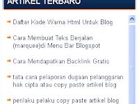 Cara Membuat Menu Scroll di Blog atau Website