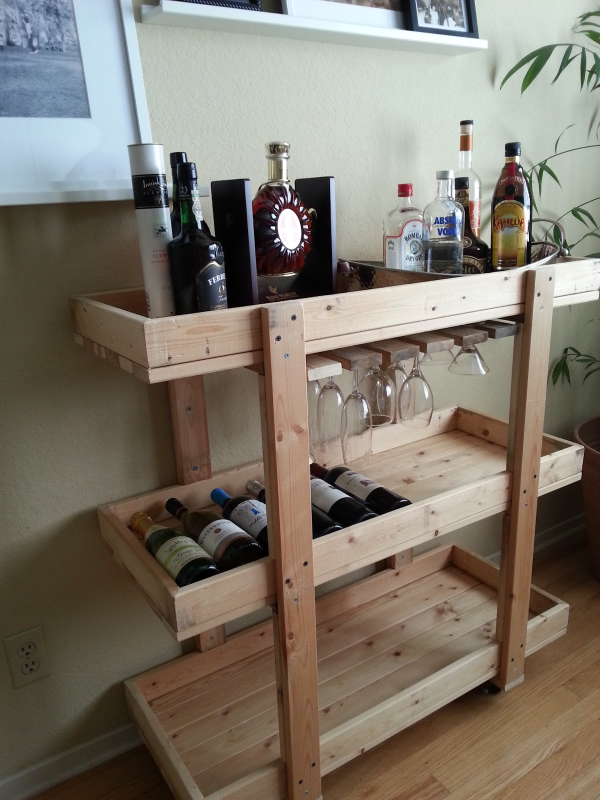 The nifty nest diy bar cart for How to build a mini bar at home