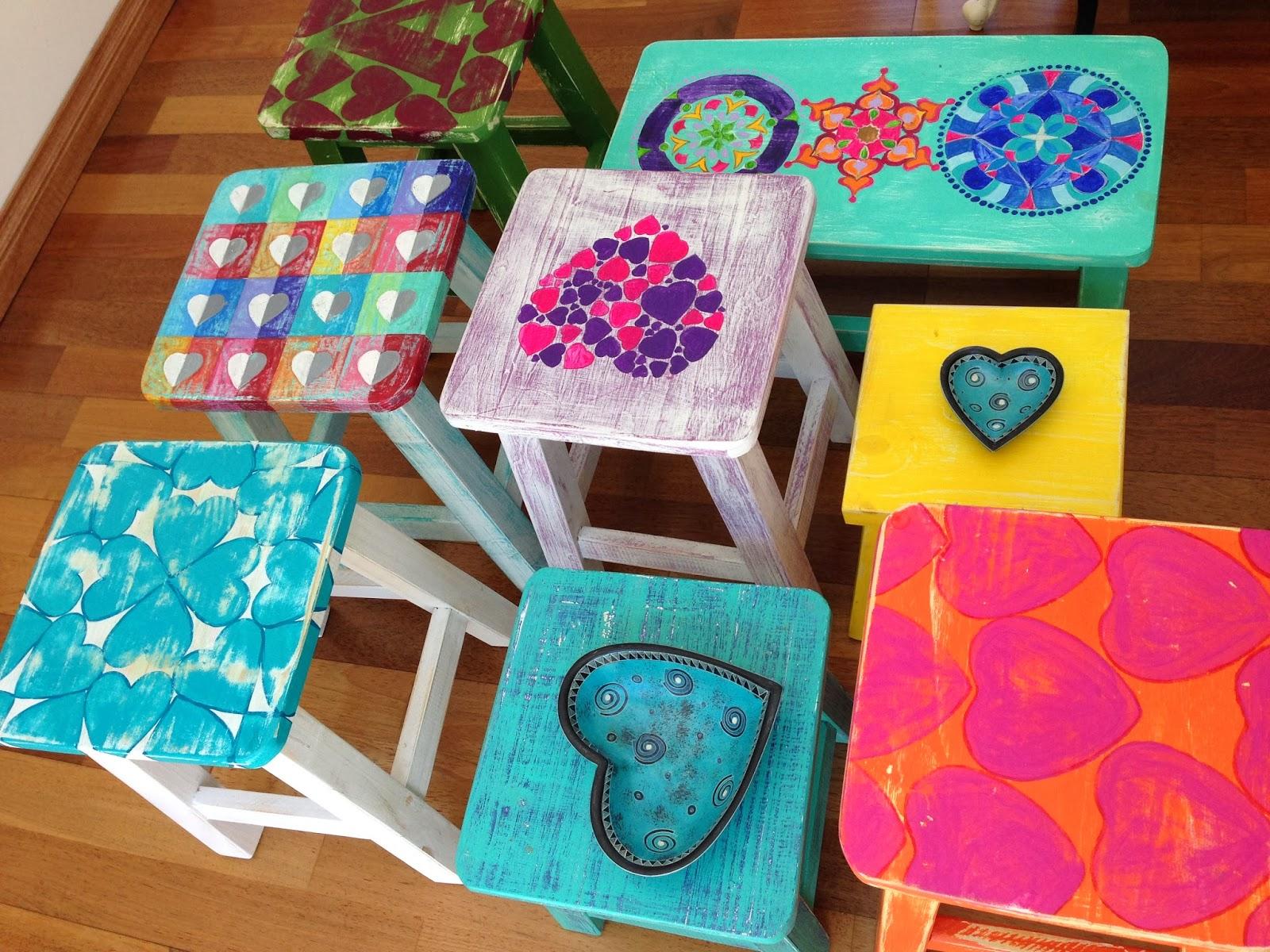 Vintouch muebles reciclados pintados a mano bancos - Armarios pintados a mano ...
