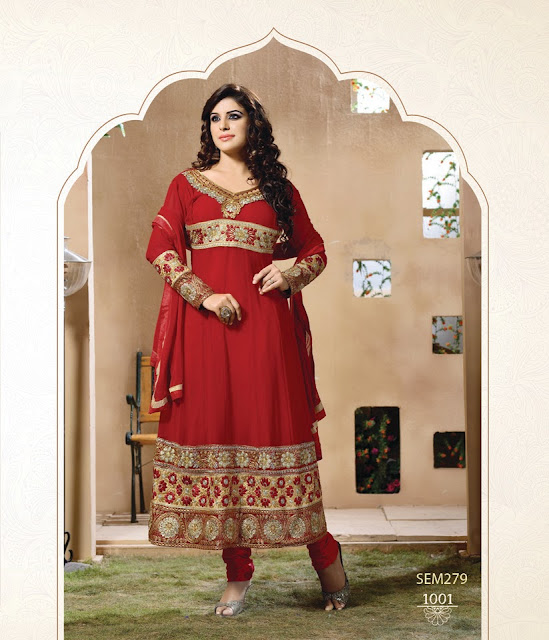 New Arrival Neck Embroidered Ankle Length Anarkali Suit
