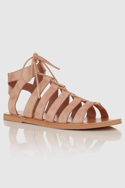 blush lace sandals