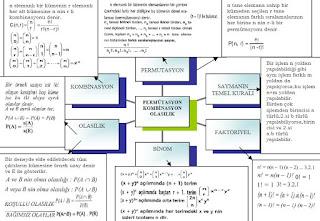 İzmir özel ders permütasyon kombinasyon olasılık kavram haritası