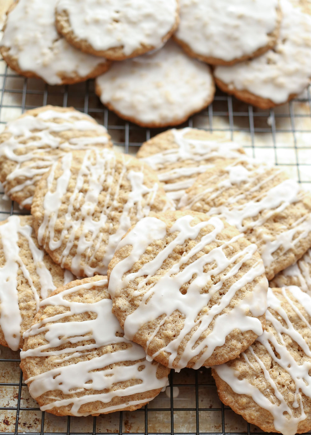 Old Fashioned Iced Oatmeal Cookies, traditional and gluten free recipes by Barefeet In The Kitchen