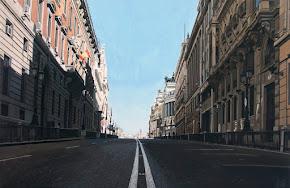 La calle Alcalá de Madrid (Obra de Ljuis Pérez