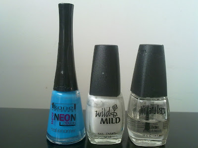 Kone helsinki neon colors, wild and mild, blue and white nails