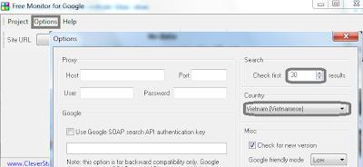 Cài đặt thông số Free Monitor for Google