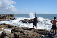 Pescando en la coronilla