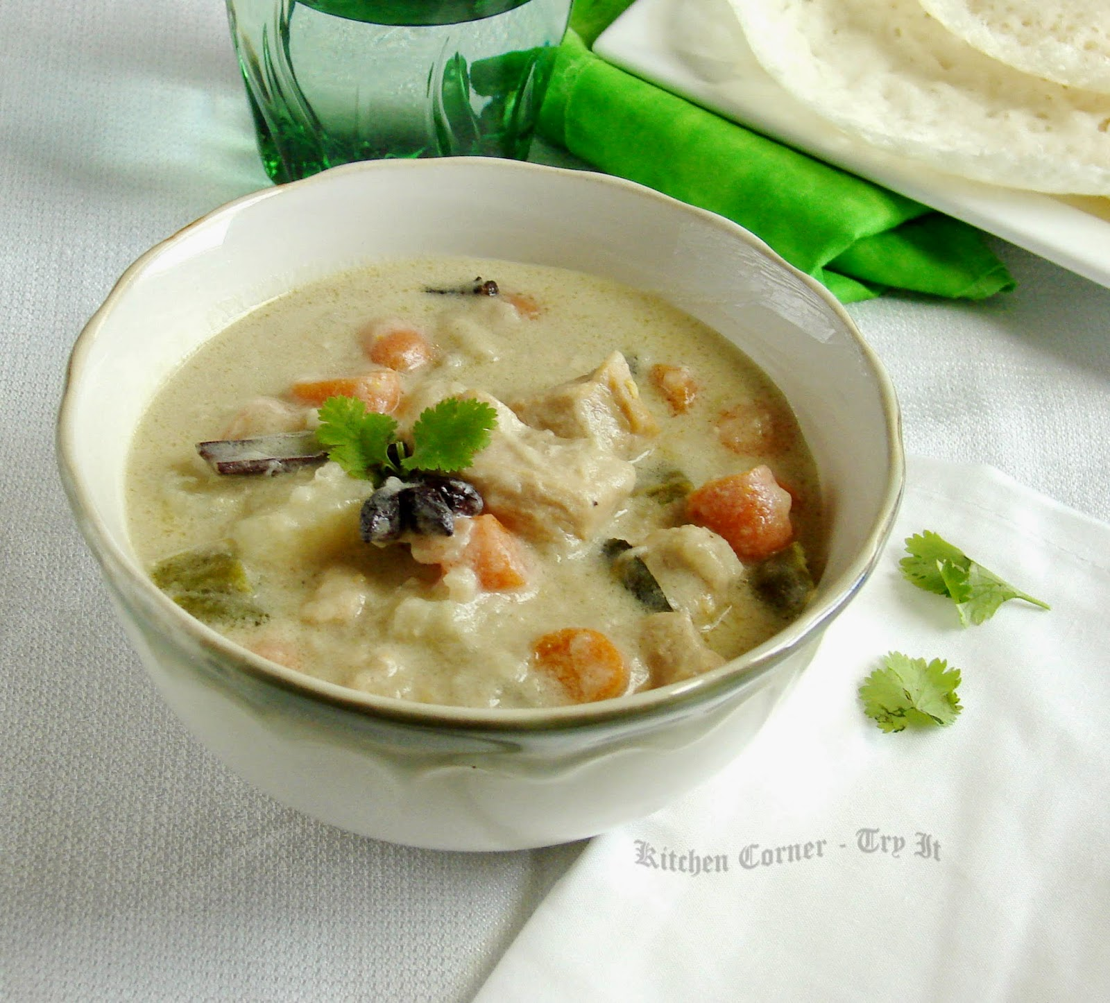 Kerala chicken stew for Appam and chicken stew kerala cuisine