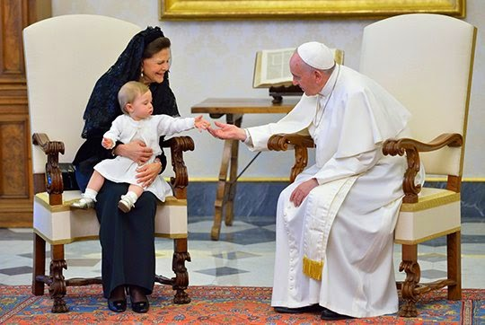 Swedish Royals Attends A Meeting With Pope Francis