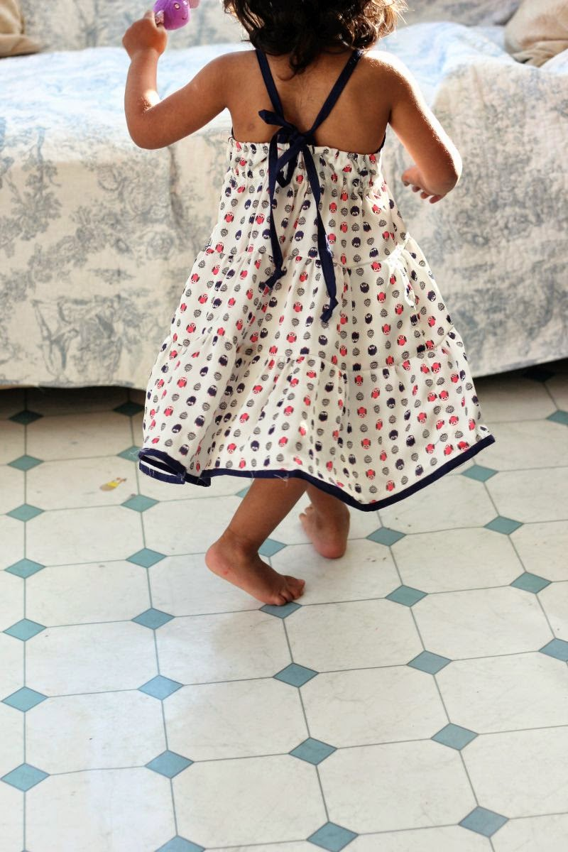 tier frills dress free pattern
