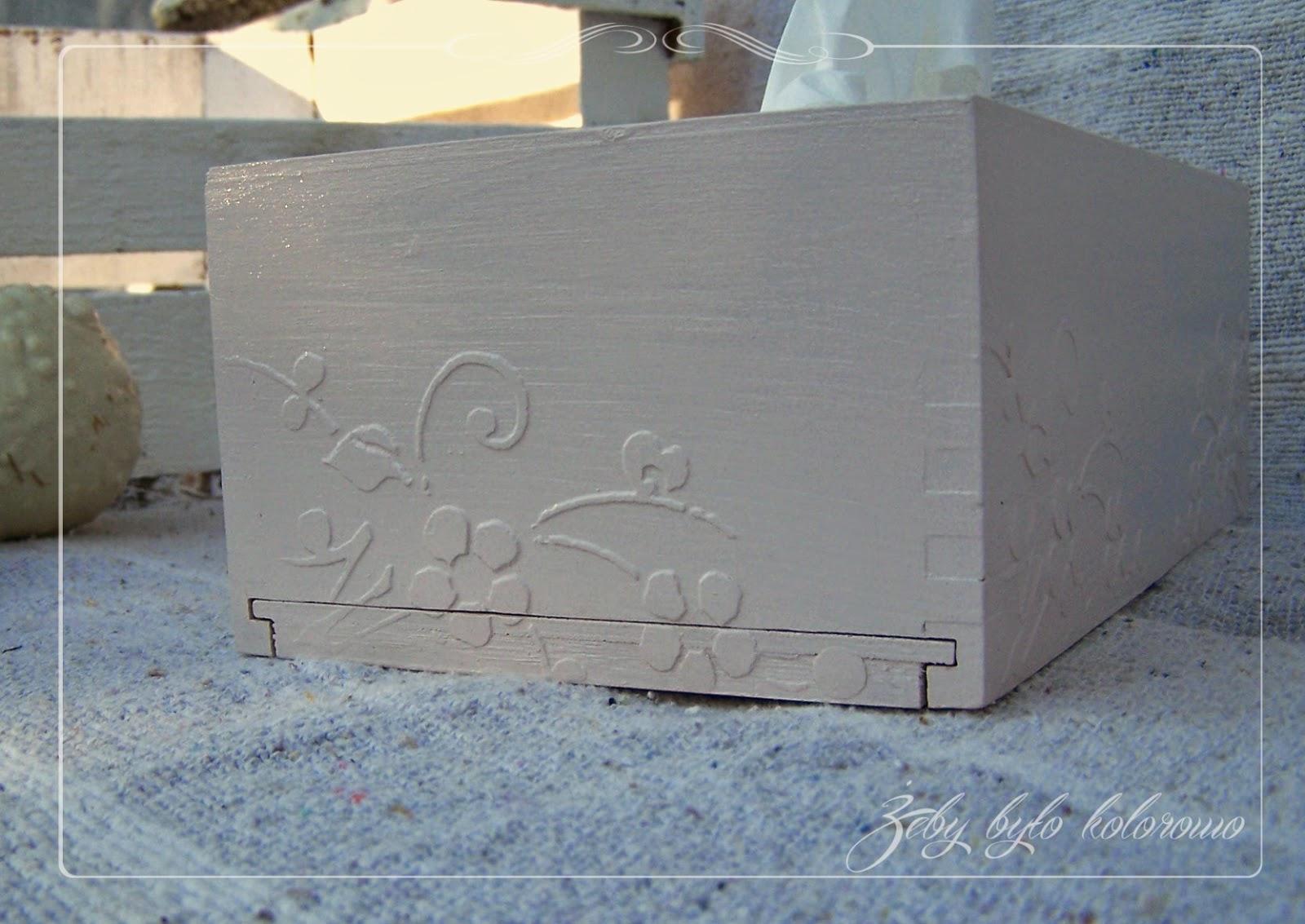 Tissue box cover decoupage