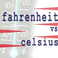 celsius and temprature