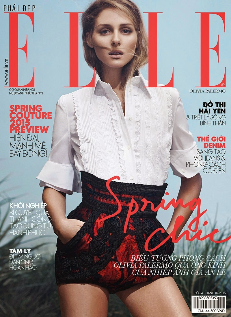 Socialite, Model, Actress @ Olivia Palermo - ELLE Vietnam April 2015