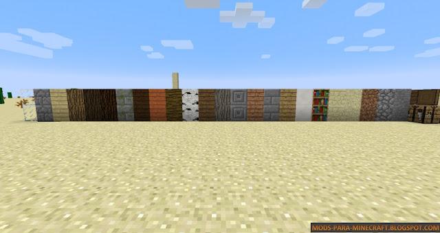 Puertas por un lado, piedra por el otro Stealth Blockspara Minecraft 1.7.10