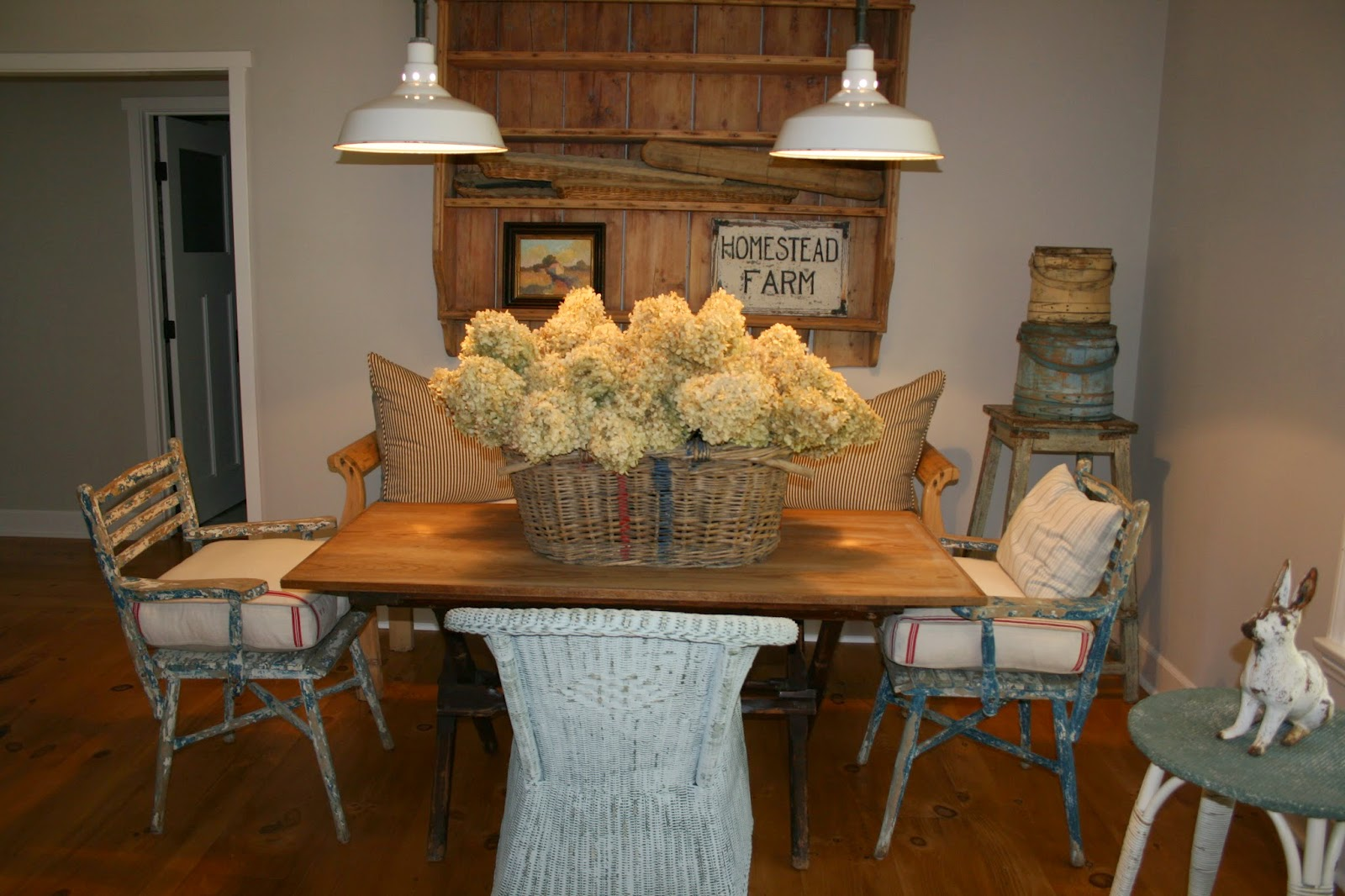 Two Great Old Chairs From A Maine Cottage On The Ends And