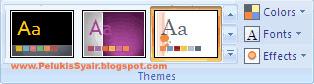Fungsi Document theme untuk membuat tampilan powerpoint yang profesional