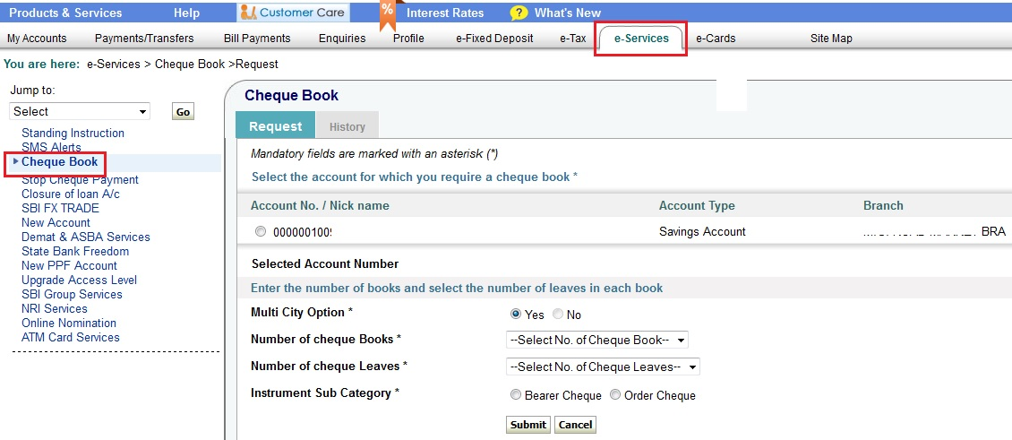 How to order cheque books through sbi online banking finance guru order cheque books through sbi online banking altavistaventures Gallery