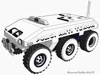 Gambar Kendaraan Taktis Polisi Anti Teror Untuk Diwarnai