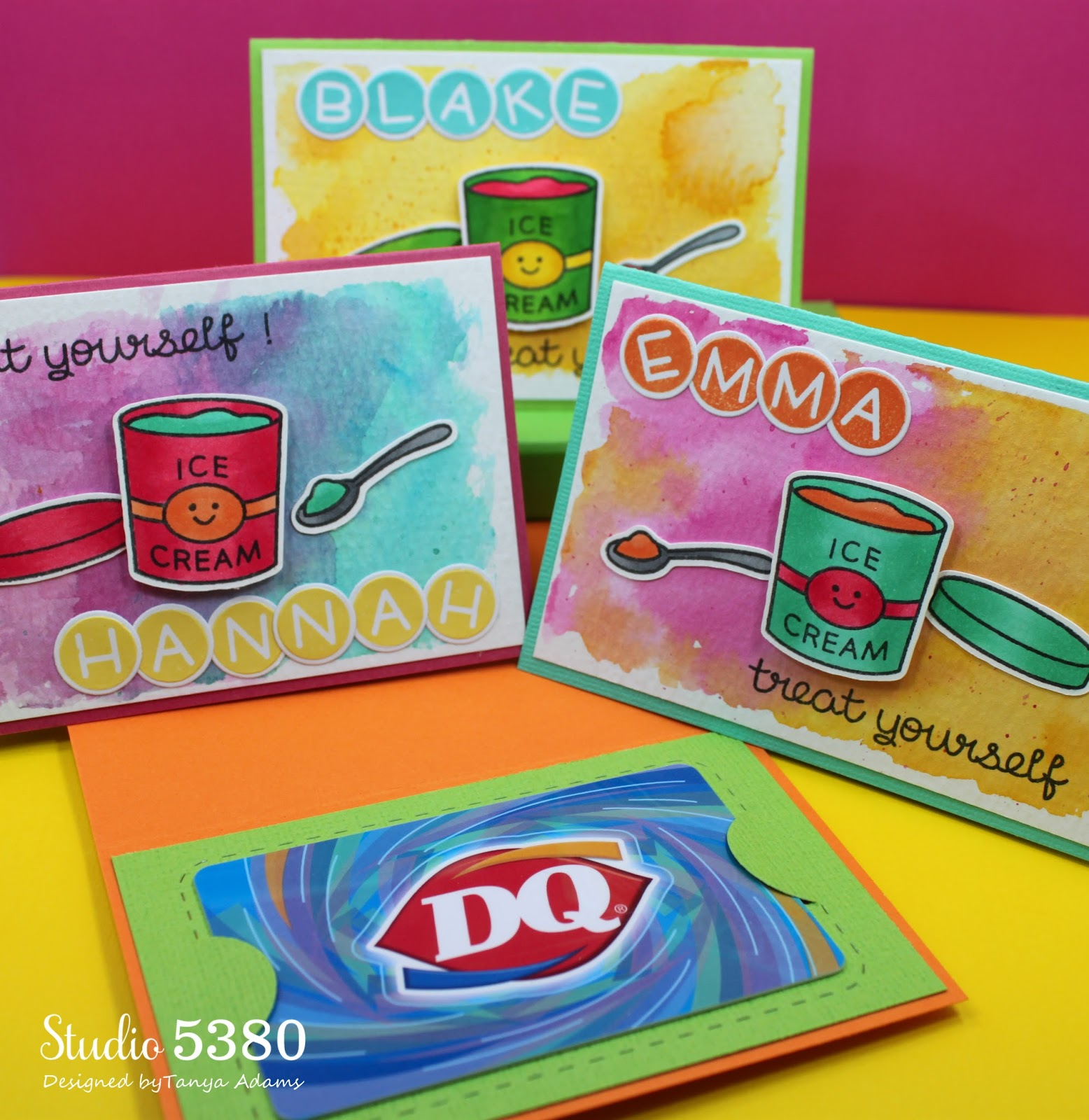Studio 5380 treat yourself i used the gift card die from jaded blossom on an insert to hold a gift card to the dairy queen solutioingenieria Image collections