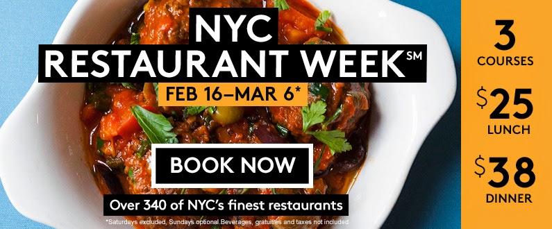 Eating Fabulously, Christopher Stewart, NYC, Restaurant Week, restaurants