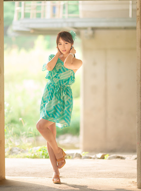 8 Kim Ji Min in Green-very cute asian girl-girlcute4u.blogspot.com