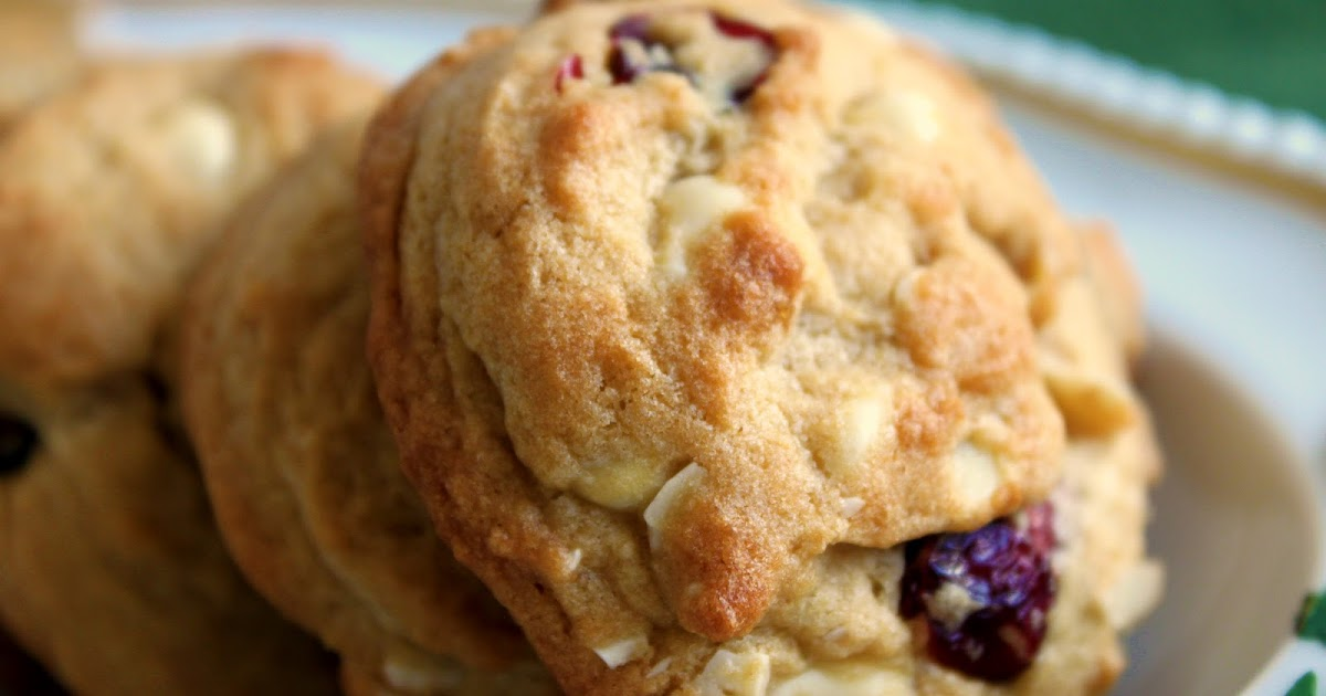 Feast for the Eyes: Cranberry White Chocolate Almond Cookies for the ...