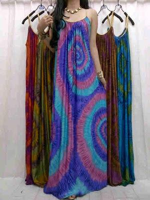 Maxi Dress Jumputan Kode 270110 B