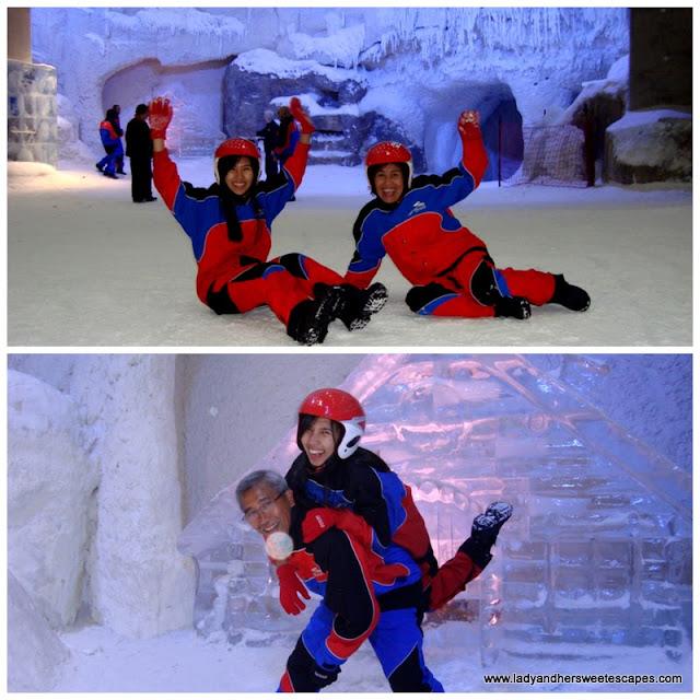 chillin with the folks at Ski Dubai's Snow Park