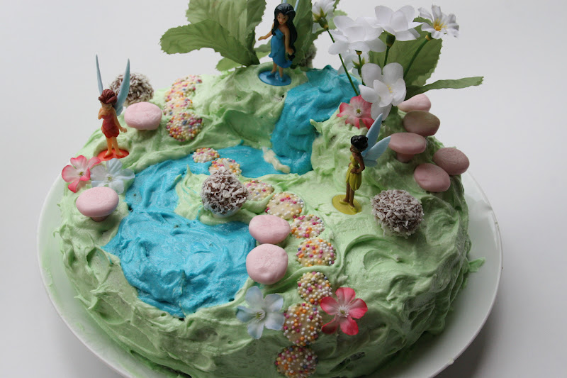fairy garden birthday cake - Garden Design Birthday Cake