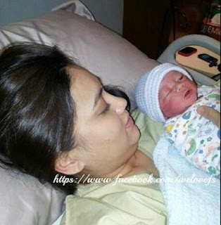 Gambar Fasha Sanda dan Bayi Lelaki nya
