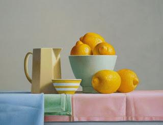 Bodegones Clasicos Oleo Frutas Limones