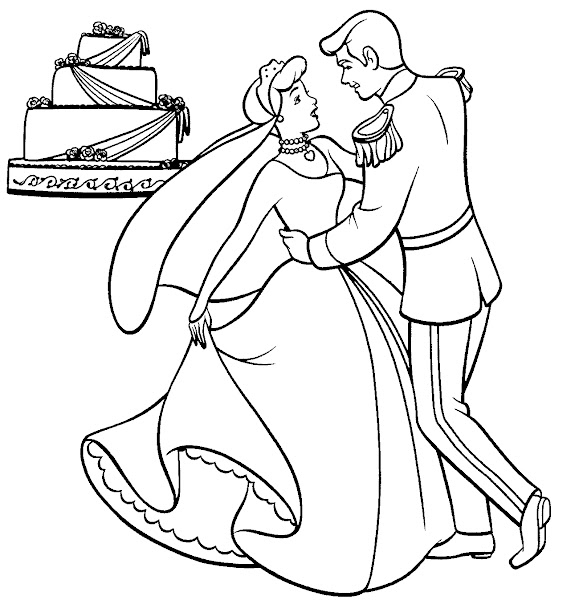 Cinderella Coloring Pages Cartoon Characters