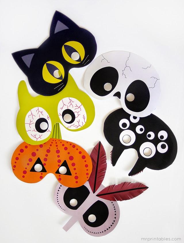 Divertidas Máscaras de Halloween para Imprimir Gratis.