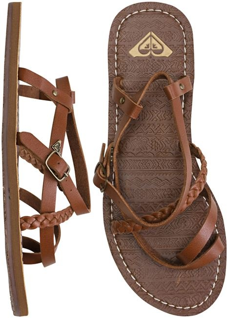 Dark Brown Flat Sandals