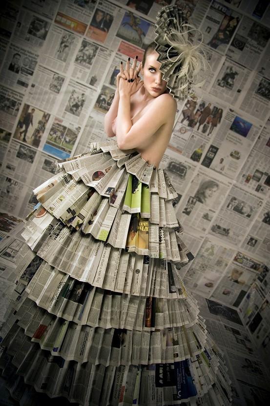Платья из газеты для девочек