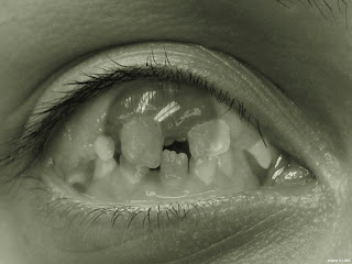 Eye Teeths Dark Gothic Wallpaper