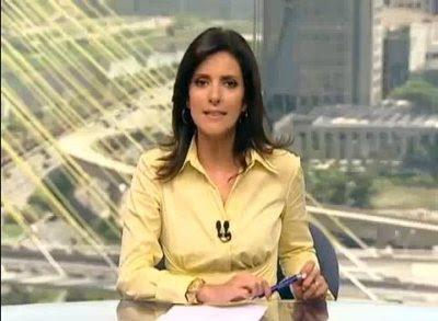 Video reporter Monalisa é empurrada ao vivo no Jornal Hoje