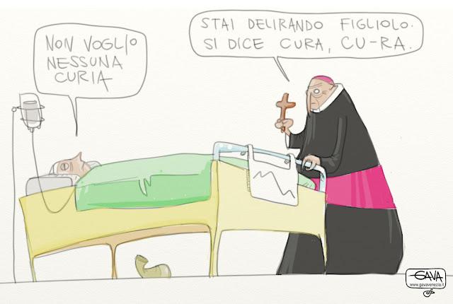 Cura Curia accanimento terapeutico Gava satira vignette